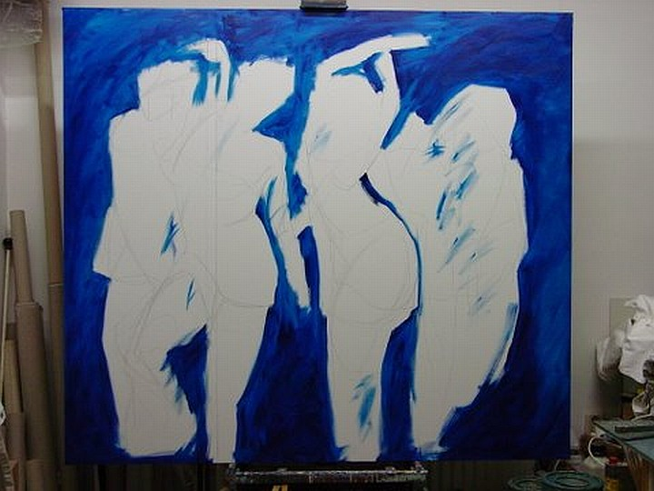 Abstract art dancing women part 1 click for large image